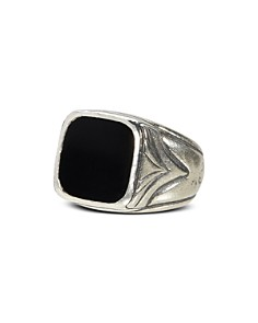 John Varvatos Collection - Sterling Silver Square Onyx Ring