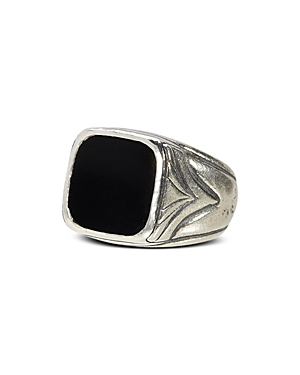 John Varvatos Collection Sterling Silver Square Onyx Ring