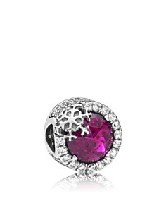 Pandora - Sterling Silver & Purple Cubic Zirconia Dazzling Snowflake Charm