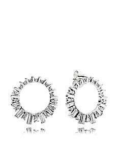 PANDORA - Sterling Silver & Cubic Zirconia Glacial Beauty Circle Earrings