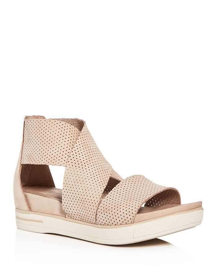 Eileen Fisher - Women's Perforated Crisscross Platform Sandals