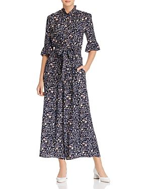 Rebecca Taylor Vivianna Floral-Printed Silk Jumpsuit