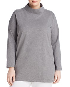 Eileen Fisher Plus - Funnel Neck Tunic Top