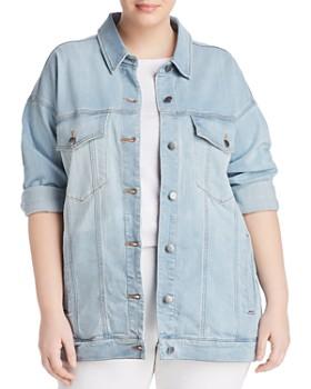 Eileen Fisher Plus - Drop Shoulder Denim Jacket