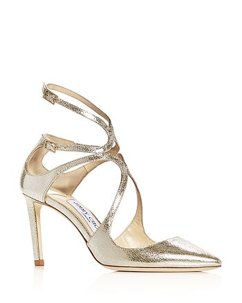 Jimmy Choo - Women's Lancer 85 Strappy Pointed-Toe Pumps