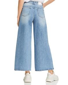 SJYP - Side-Button Wide-Leg Jeans in Denim Blue