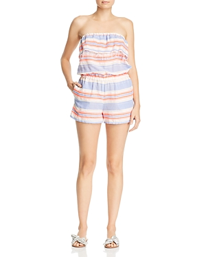 Lemlem FIESTA STRAPLESS STRIPED ROMPER