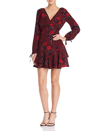 Band of Gypsies - Mariah Floral Faux-Wrap Dress