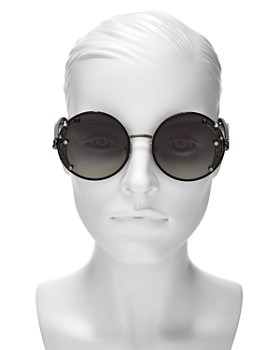 Jimmy Choo - Women's Gema Embellished Round Sunglasses, 59mm