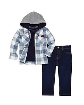 7 For All Mankind - Boys' Flannel Jacket, Pocket Tee & Dark-Wash Jeans Set - Baby