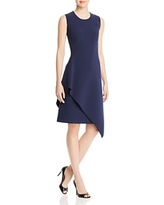 BOSS - Delakety Asymmetric Overlay Dress