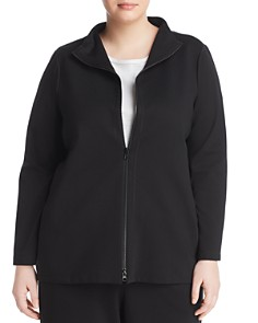 Eileen Fisher Plus - Band Collar Knit Jacket