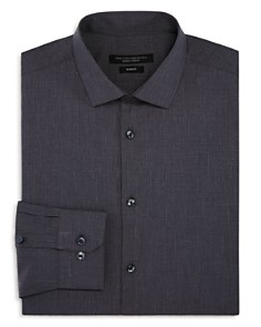 John Varvatos Star USA - Tonal-Grid Slim Fit Dress Shirt