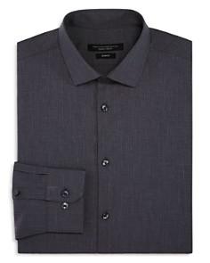 John Varvatos Star USA - Tonal-Grid Slim Fit Dress Shirt