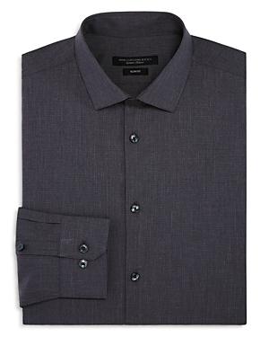 John Varvatos Star Usa Tonal-Grid Slim Fit Dress Shirt
