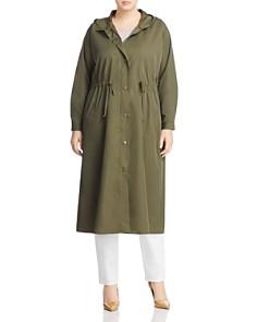 VINCE CAMUTO Plus - Hooded Drawstring Jacket