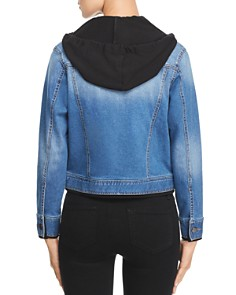 Kenneth Cole - Layered-Effect Hooded Denim Jacket