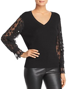 Le Gali - Doloris Lace Sleeve Sweater - 100% Exclusive