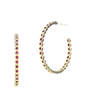 Freida Rothman Color Hoop Earrings in 14K Gold-Plated Sterling Silver, Black Rhodium-Plated Sterling Silver & Platinum Rhodium-Plated Sterling Silver