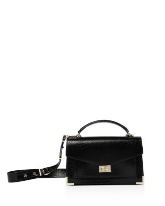 Emily Small Python Embossed Leather Shoulder Bag by The Kooples