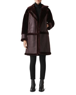 Faux Shearling Biker Style Coat by Whistles