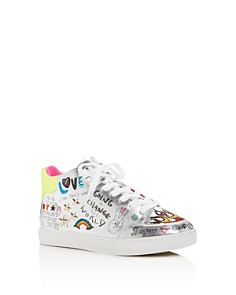 STEVE MADDEN - Girls' JPowers Graphic Mid-Top Sneakers - Little Kid, Big Kid