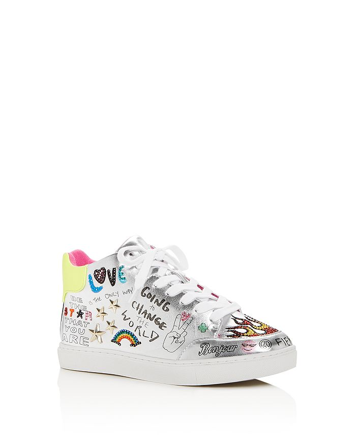 28311f7f140 STEVE MADDEN Girls  JPowers Graphic Mid-Top Sneakers - Little Kid ...