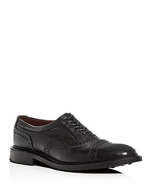 Allen Edmonds Men's Strandmok Brogue Leather Cap-Toe Oxfords