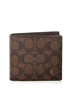 COACH - 3-in-1 Signature Print Leather Wallet