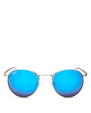 Maui Jim Women\\\'s Nautilus Polarized Mirrored Round Sunglasses, 50mm-Men