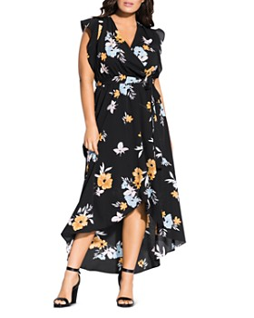 279dc561f87f City Chic Plus - Zinnea Faux-Wrap Dress ...