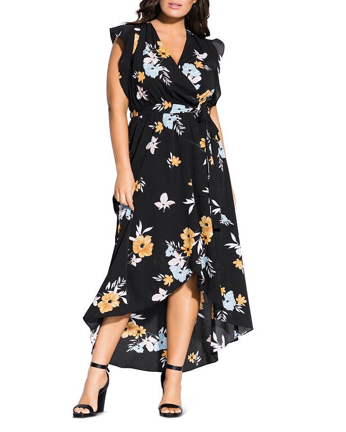 City Chic Plus - Zinnea Faux-Wrap Dress