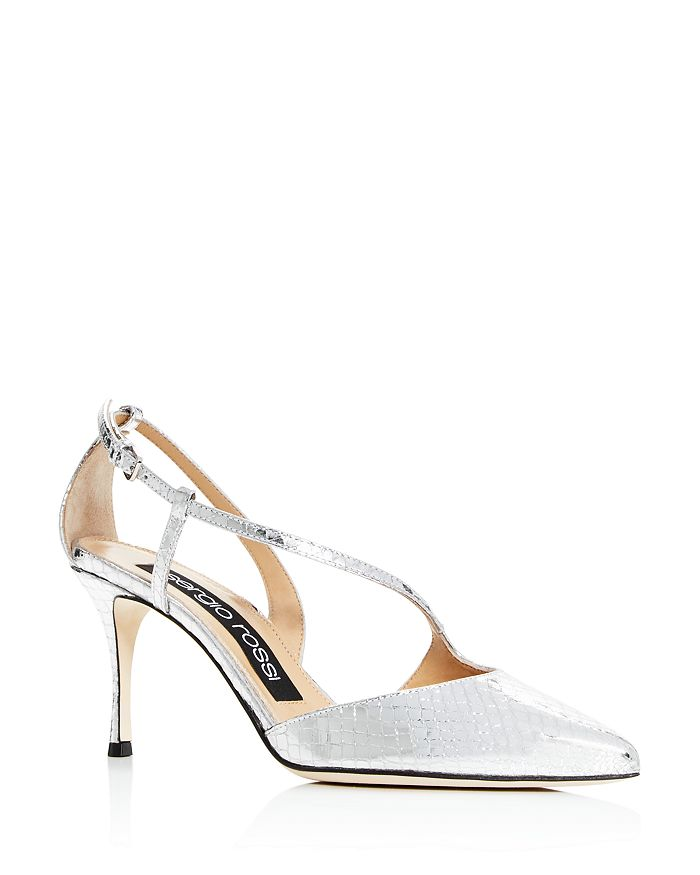 Sergio Rossi - Women's Cross-Strap Pointed-Toe Pumps