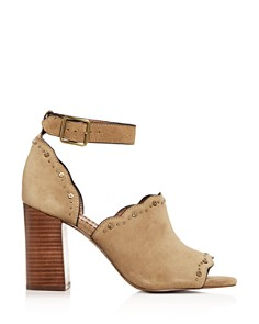 COACH - Women's Marnie Ankle Strap High Block-Heel Sandals