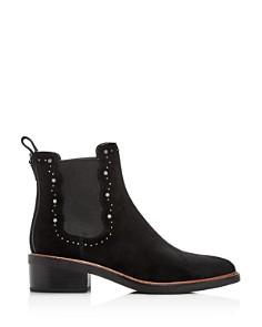 COACH - Women's Bowery Pointed-Toe Block-Heel Booties