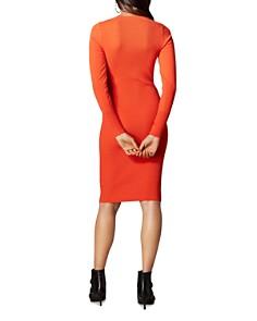 KAREN MILLEN - Lace-Up Rib-Knit Dress