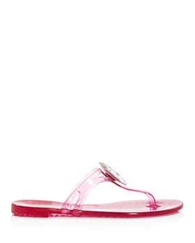 Casadei - Women's Embellished Jelly Thong Sandals