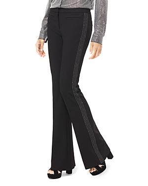 Michael Michael Kors Embellished Stretch-Twill Flared Pants