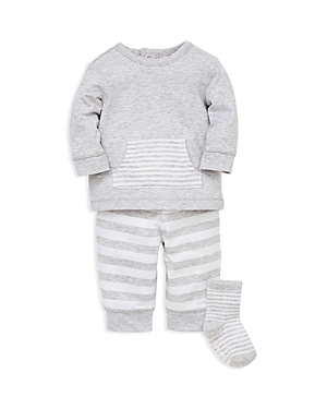 Little Me Boys' Striped Sweatshirt, Jogger Pants & Socks Set - Baby