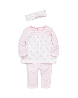 Little Me Girls Heart  Stripe Tunic Leggings  Headband Set  Baby