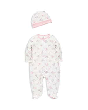 Little Me Girls' Safari Scribble Footie & Cap Set - Baby