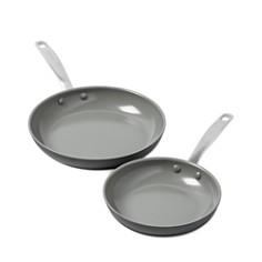"GreenPan - Chatham 8"" & 10"" Ceramic Nonstick Frypan Set"
