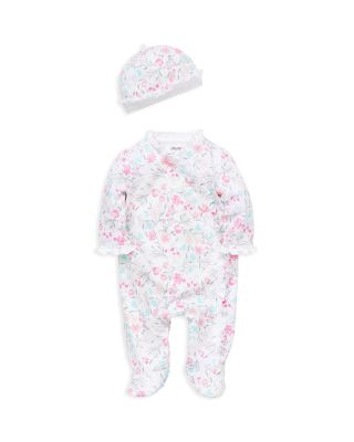 Little Me One Piece Pink Kitten Full Zip Long Sleeve Pajamas for Little Girls