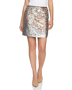 1.STATE - Matte Sequin Mini Skirt