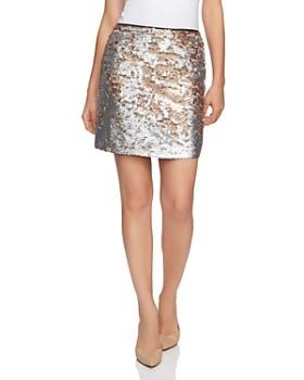 1.STATE - Matte Sequin Mini Skirt