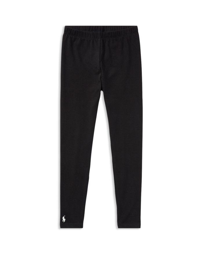 Ralph Lauren Girls' Stretch Cotton Leggings - Little Kid, Big Kid  | Bloomingdale's