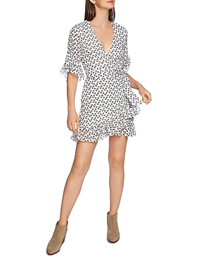 1.state Floral Ruffle Wrap Dress