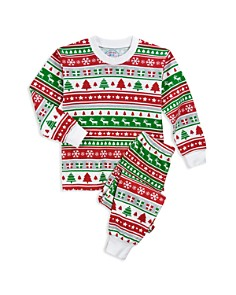 Sara's Prints - Unisex Fair Isle Holiday Pajama Shirt & Pants Set - Little Kid