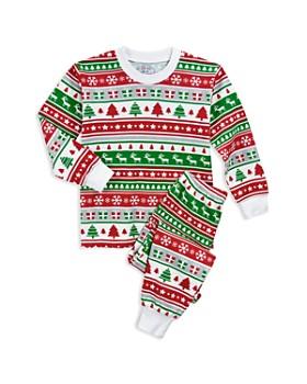 Sara's Prints - Unisex Fair Isle Holiday Pajama Shirt & Pants Set - Little Kid