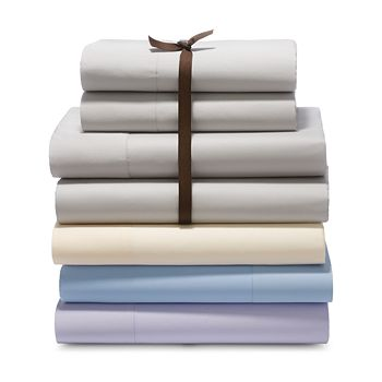 Sky - 500TC Sateen Wrinkle-Resistant Sheet Set, King - 100% Exclusive